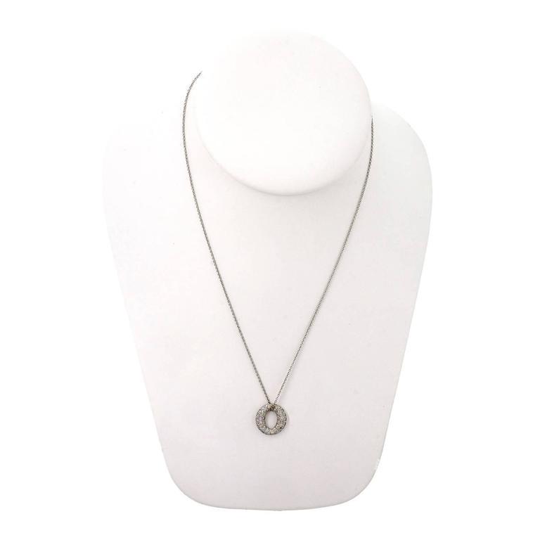 Tiffany and co sevillana diamond platinum pendant necklace for sale tiffany co platinum diamond mini sevillana pendant necklace elsa peretti authentic design 55 aloadofball Image collections