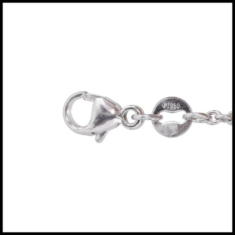 GIA Certified 7.40 Carat Diamond Platinum Pendant Necklace For Sale 6