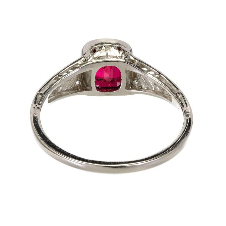 Tiffany & Co. GIA Certified 1.52 Carat Ruby Diamond Platinum Engagement Ring 8