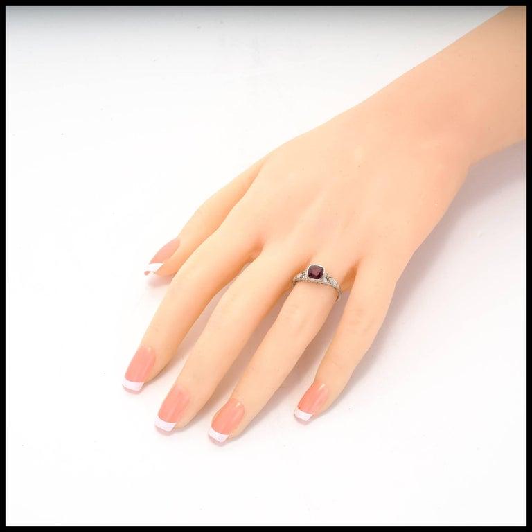 Tiffany & Co. GIA Certified 1.52 Carat Ruby Diamond Platinum Engagement Ring 9