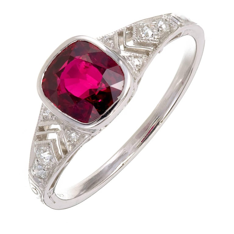 Ruby And Diamond Ring Tiffany