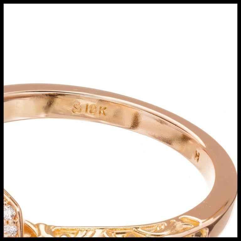 EGL Certified Peter Suchy 1.54 Carat Diamond Gold Halo Engagement Ring For Sale 2
