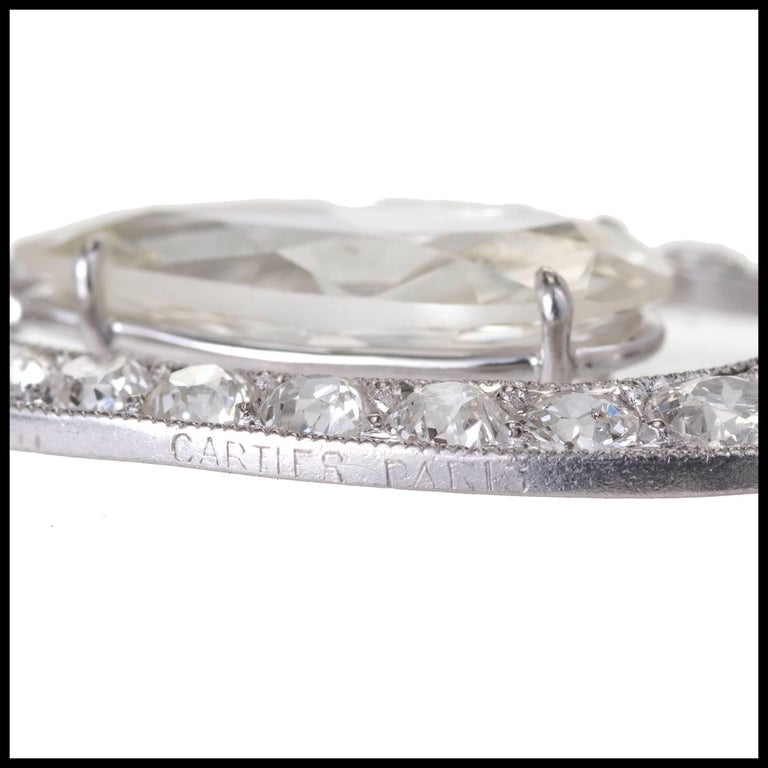 Cartier Paris GIA Certified 7.89 Carat Diamond Platinum Dangle Earrings 5