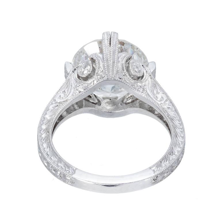 engraved platinum ring for sale at 1stdibs