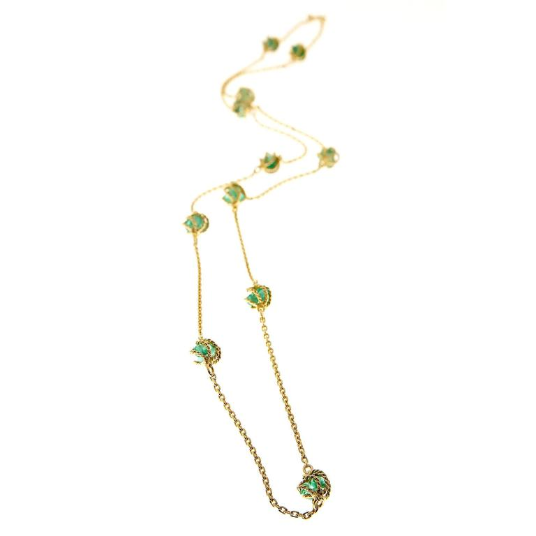 Mellerio Meller Emerald By The Yard Gold Chain Necklace 5