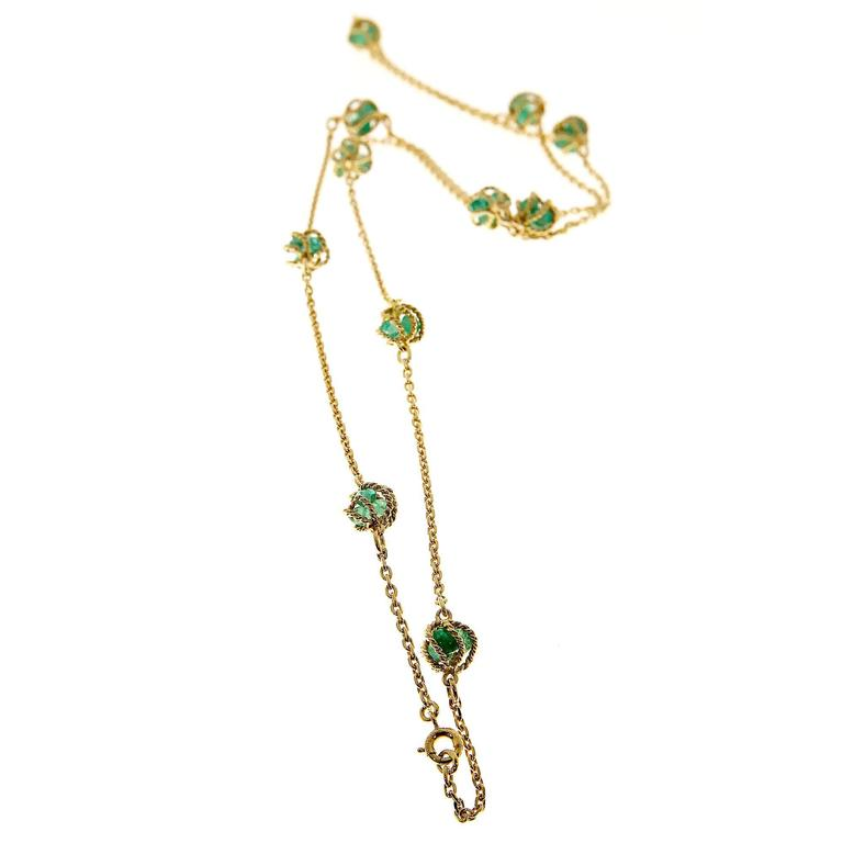 Mellerio Meller Emerald By The Yard Gold Chain Necklace 4