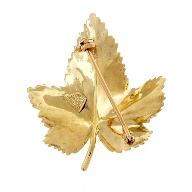 Tiffany & Co. Ruby Gold Leaf Pin  4