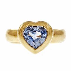 Tiffany & Co. Blue Sapphire Gold Heart Ring