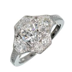 1930s Art Deco Diamond Platinum Engagement Ring