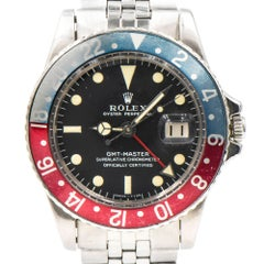 Rolex Stainless Steel GMT-Master Wristwatch Ref 1675 circa 1967