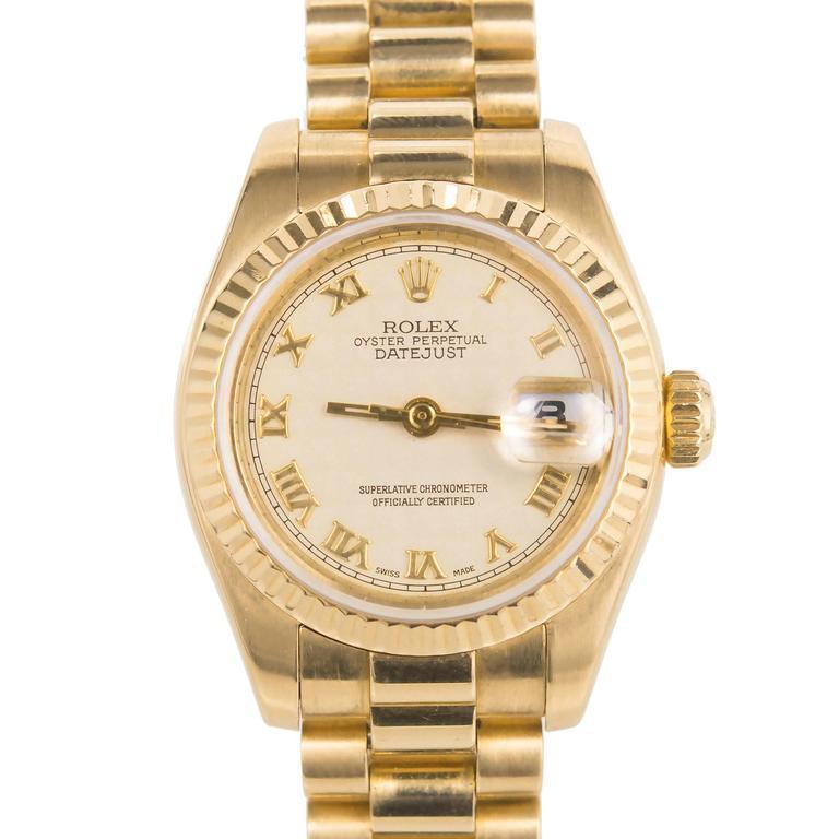 Rolex Lady's Yellow Gold Datejust Wristwatch Ref 179178, circa 2002