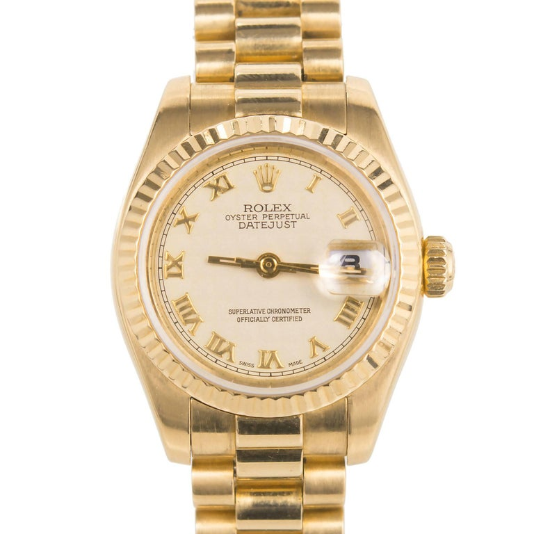 Rolex Lady's Yellow Gold Datejust Wristwatch Ref 179178, circa 2002 For Sale