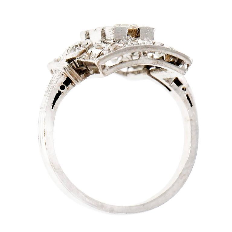 Art Deco Old European Cut Diamond Platinum Ring  Circa 1920 1