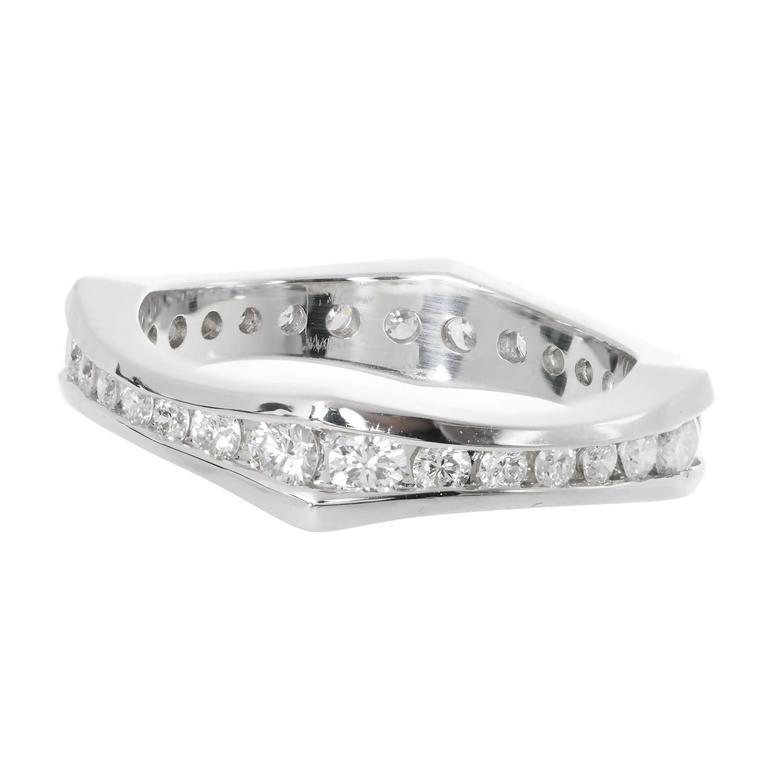 Peter Suchy Diamond Eternity Band Platinum Ring