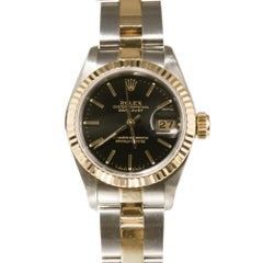Rolex Ladies Yellow Gold Stainless Steel Datejust Automatic Wristwatch Ref 69173