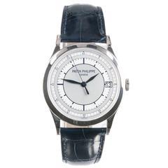 Patek Philippe White Gold Calatrava Automatic Wristwatch Ref 5296G