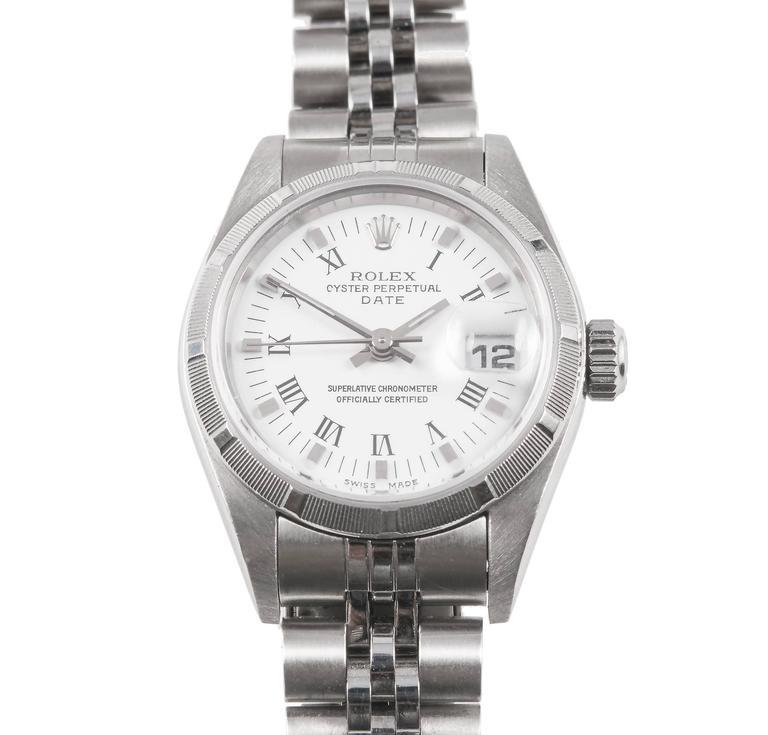 Rolex Lady's Stainless Steel Date Wristwatch Ref 79190