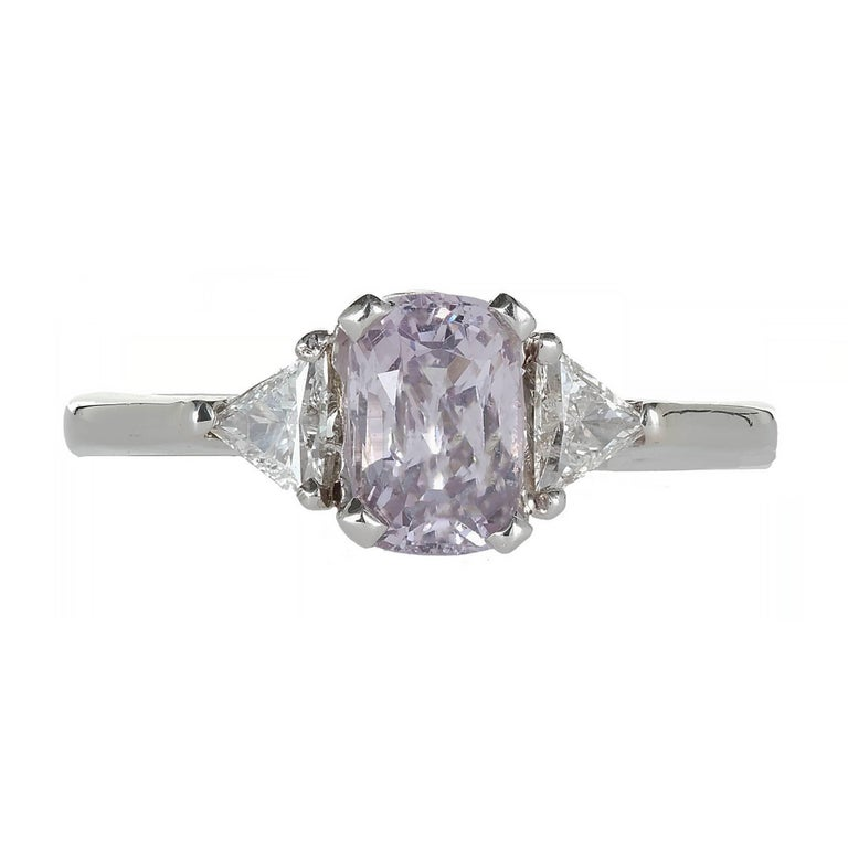 1 20 carat light purple spinel platinum