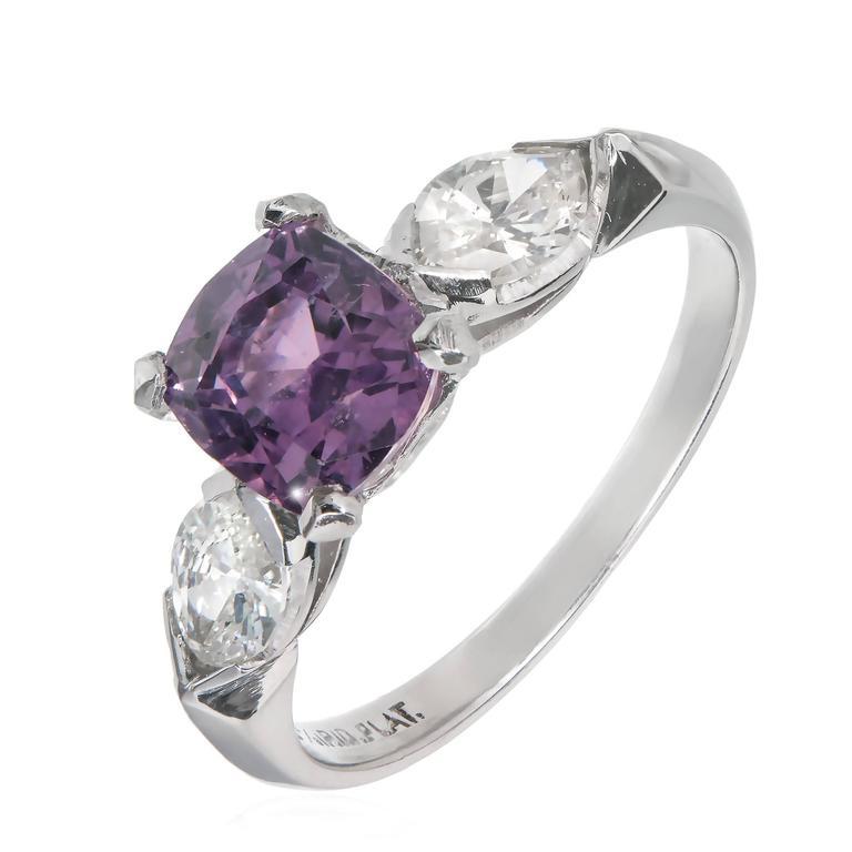 Purple Sapphire Platinum Ring