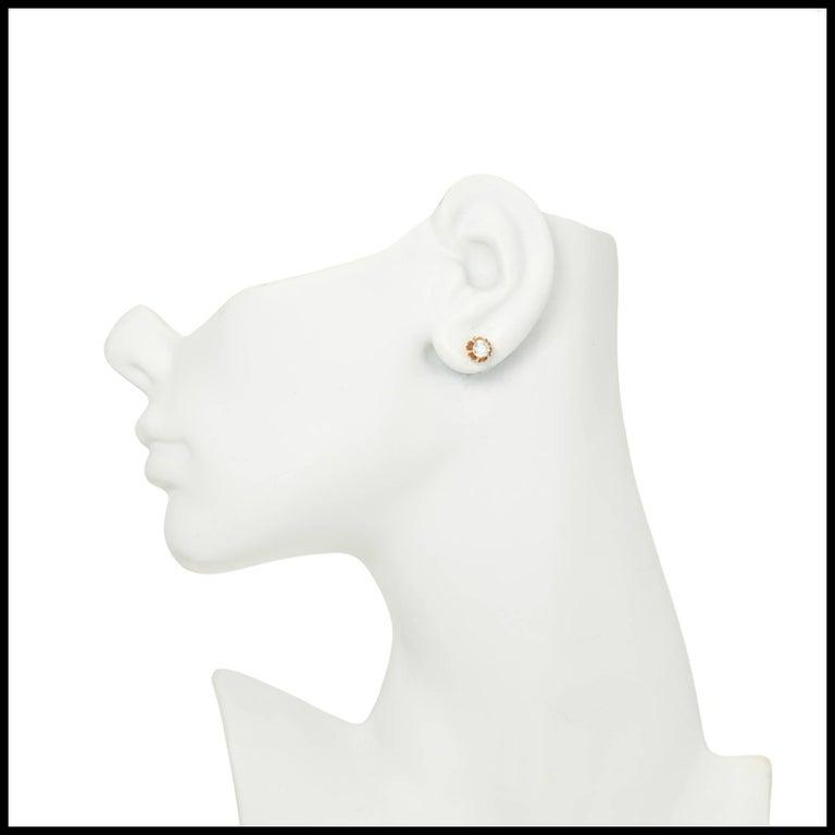 EGL Certified .75 Carat Art Deco Diamond Rose Gold Platinum Stud Earrings 7