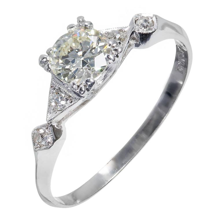 75 carat egl certified traditional cut diamond platinum for Orthodox wedding rings for sale