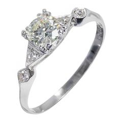 .75 Carat EGL Certified Traditional Cut Diamond Platinum Engagement Ring