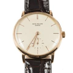 Patek Philippe Rose Gold Calatrava Manual Wind Wristwatch Ref 3410