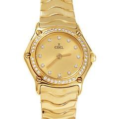 Ebel Ladies Diamond Gold Wave Wristwatch