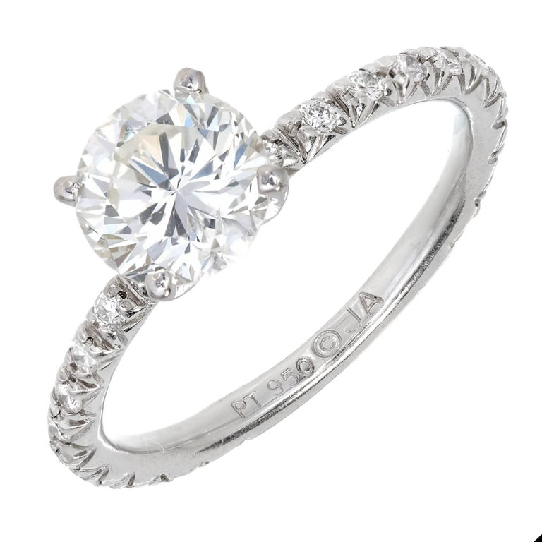 GIA Certified 1.02 Diamond Platinum Solitaire Engagement Ring