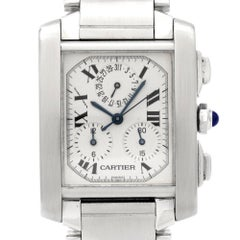 Cartier Stainless Steel Tank Francaise Chronograph Wristwatch Ref 2303