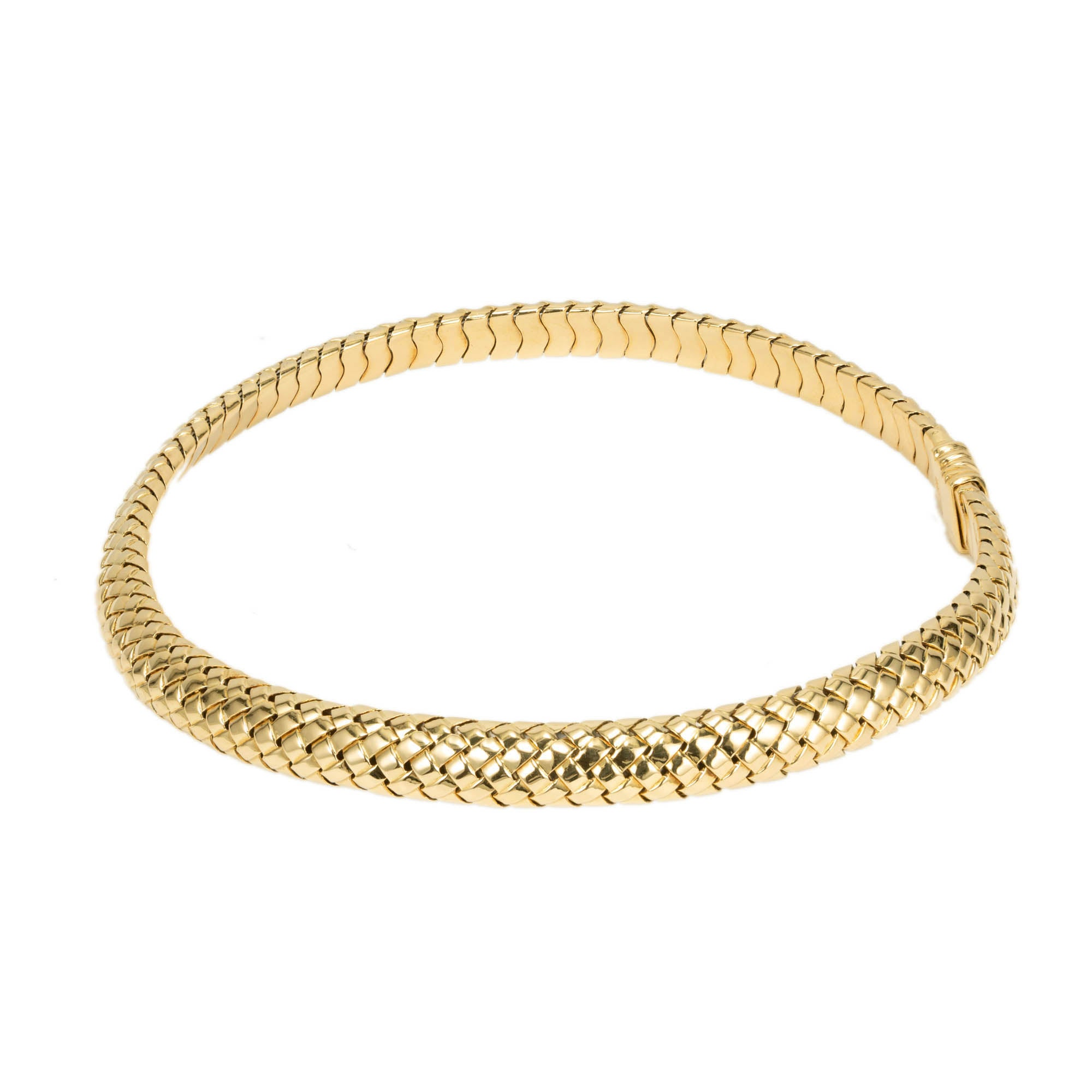 aba70ff342a Tiffany and Co. Yellow Gold Mesh Choker Woven Necklace at 1stdibs