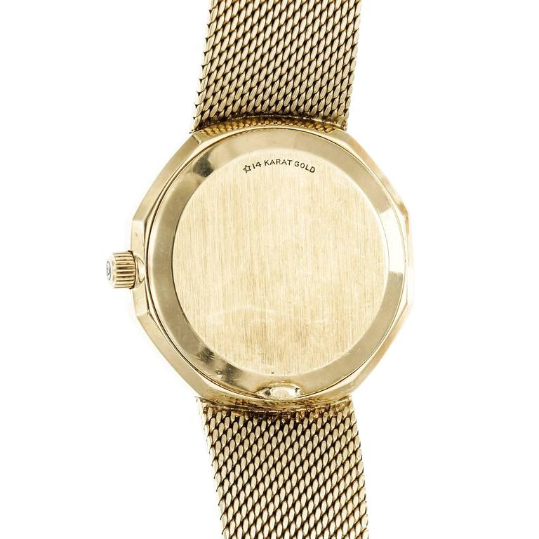 Omega Yellow Gold Constellation Mesh Band Quartz Wristwatch For Sale 1