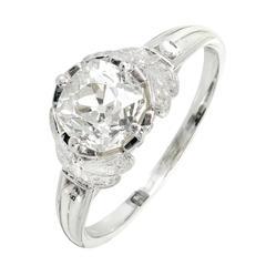 Peter Suchy GIA Certified 1.32 Carat Diamond Platinum Engagement Ring