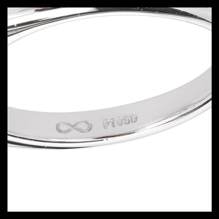 Peter Suchy 2.56 Carat Sapphire Diamond Platinum Three-Stone Engagement Ring   For Sale 3