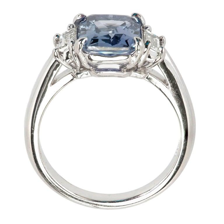 Peter Suchy 2.56 Carat Sapphire Diamond Platinum Three-Stone Engagement Ring   For Sale 4