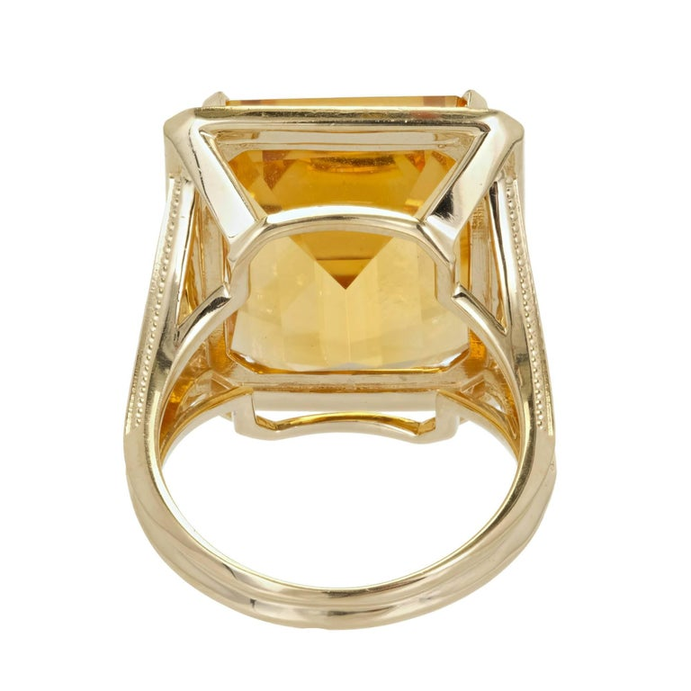 21 00 carat emerald cut citrine halo gold cocktail