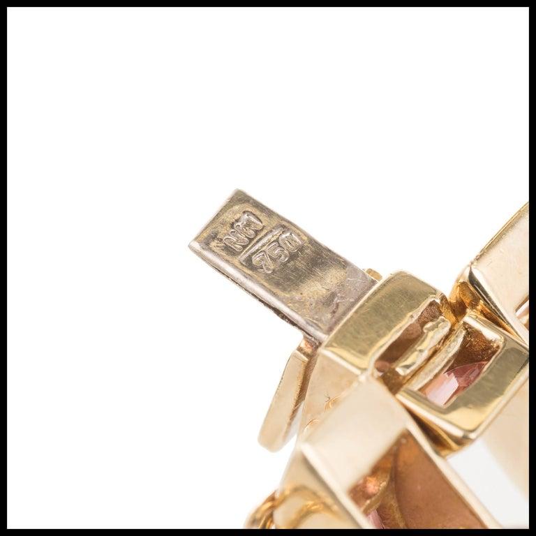 Tourmaline Topaz Amethyst Peridot Citrine Lolite Gold Link Bracelet For Sale 1