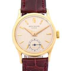 Patek Philippe Yellow Gold Calatrava Manual Wind Wristwatch