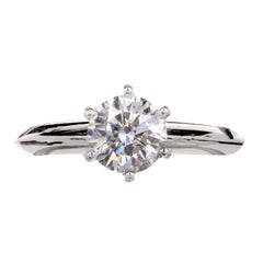 Tiffany & Co. 1.00 Carat Diamond Platinum Solitaire Engagement Ring