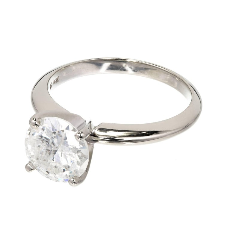 EGL Certified 1.77 Carat Diamond Gold Solitaire Engagement Ring For Sale 1
