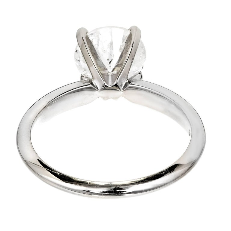 EGL Certified 1.77 Carat Diamond Gold Solitaire Engagement Ring For Sale 6