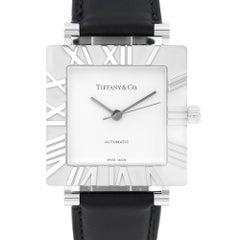 Tiffany & Co. Sterling Silver Atlas Automatic Wristwatch