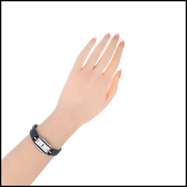 Tiffany & Co Lady's Diamond White Gold Wristwatch For Sale 3