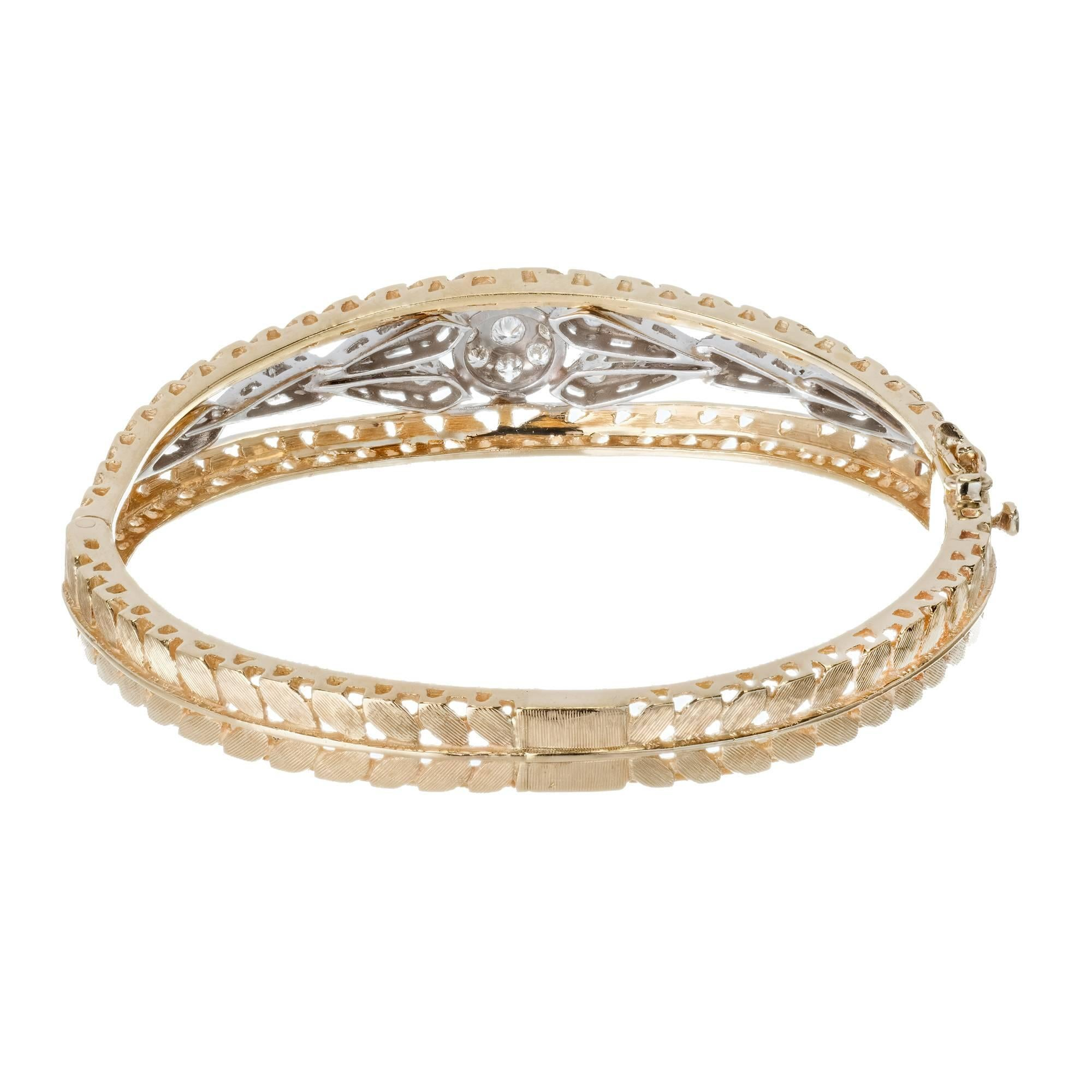 rose bangles pave jewelry in diamondland jewellery diamond bracelet bangle gold