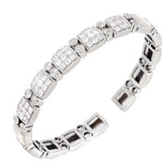 Sonia B 1.70 Carat Round Diamond Gold Flex Bangle Bracelet