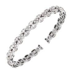 Sonia B 1.75 Carat Round Diamond Gold Bangle Bracelet