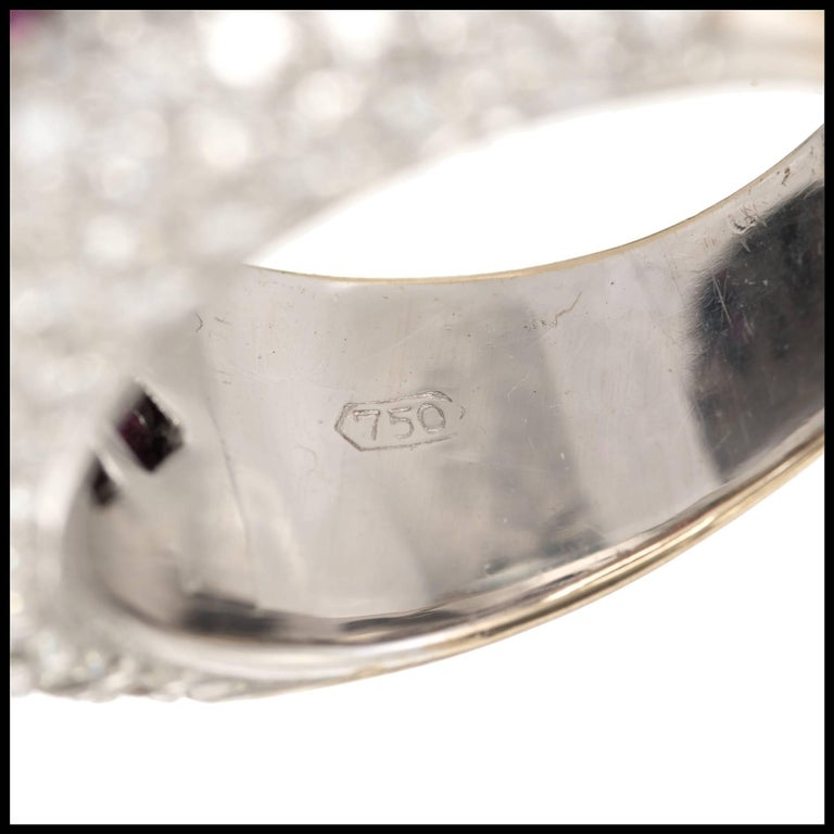 Sonia B Ruby Diamond Gold Dome Cocktail Band Ring For Sale 1