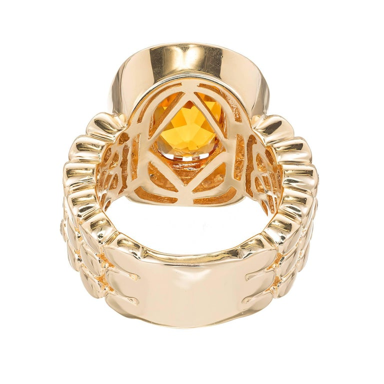 Sonia B Citrine Diamond Gold Cocktail Ring For Sale 1