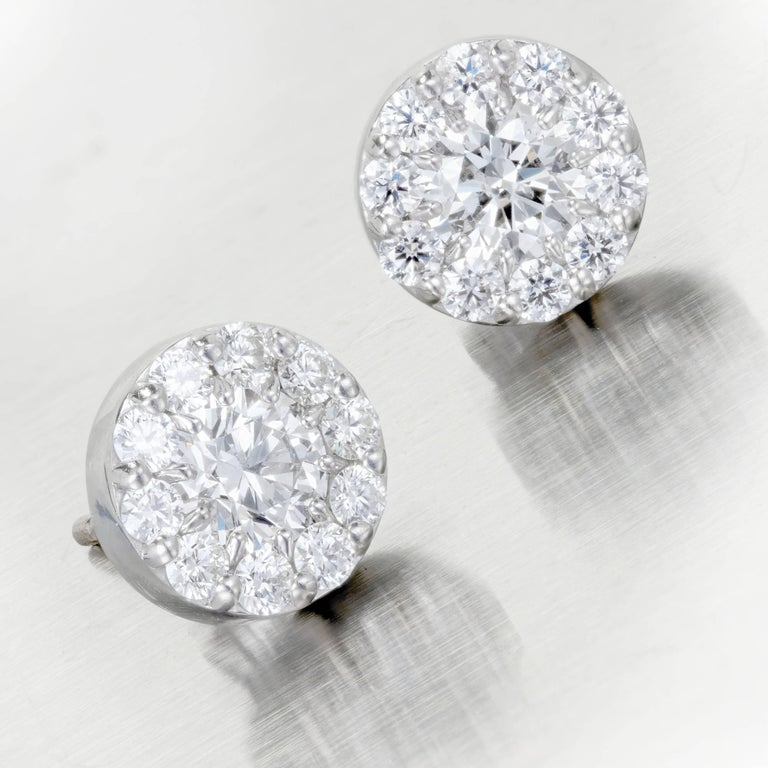 1 carat stud earrings sale hearts on 1 00 carat gold halo stud 3304