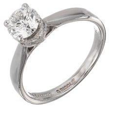 Bailey Banks Biddle .74 Carat Diamond Solitaire Platinum Engagement Ring